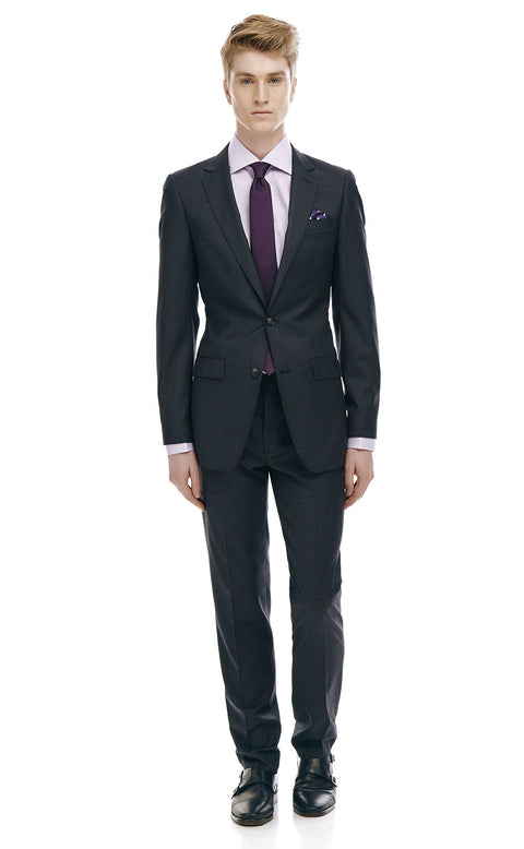 Pharrell Charcoal Slim Fit Wool Suit