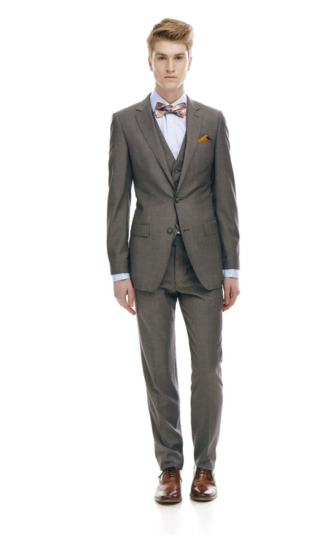 Maurice Grey Slim Fit Wool Suit