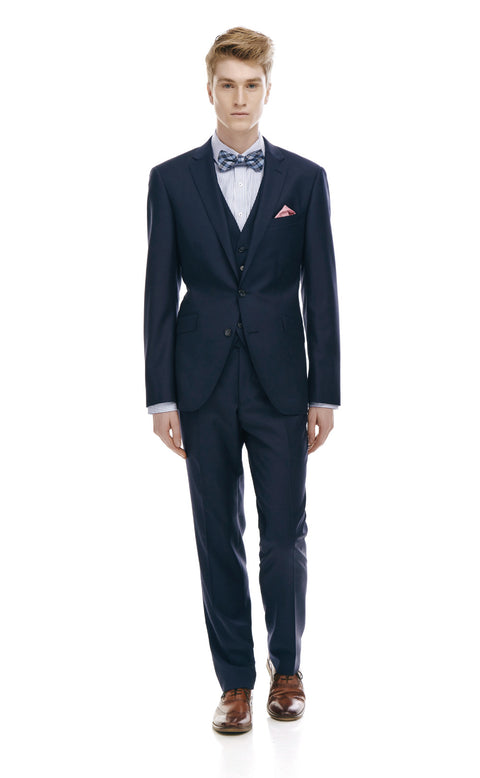 Devonte Navy Classic Fit Wool Suit
