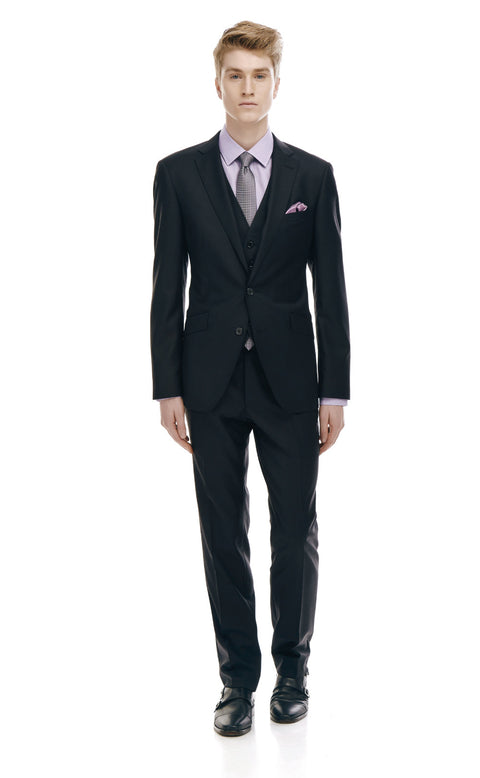 Devonte Black Classic Fit Wool Suit