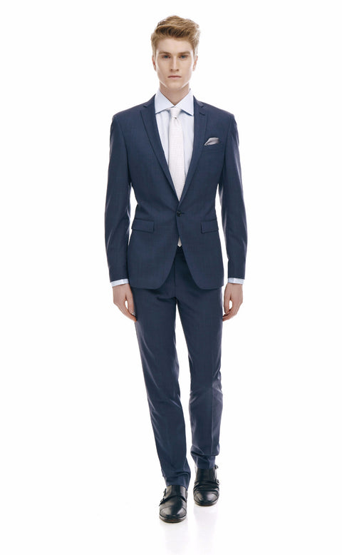 Alberto Blue Single Button Suit
