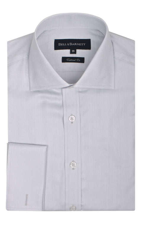 Burton Silver French Cuff Formal Shirt - front.