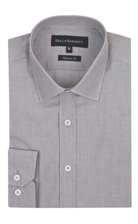 Carter Grey Slim Fit Business Shirt - front.