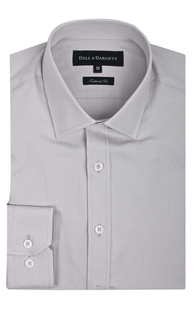 Corwin Silver Business Shirt - front.