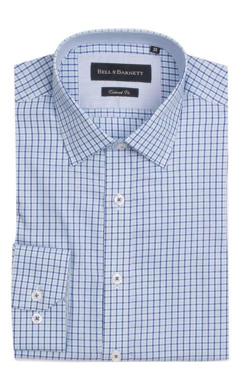 Juan Blue Check Cotton Shirt