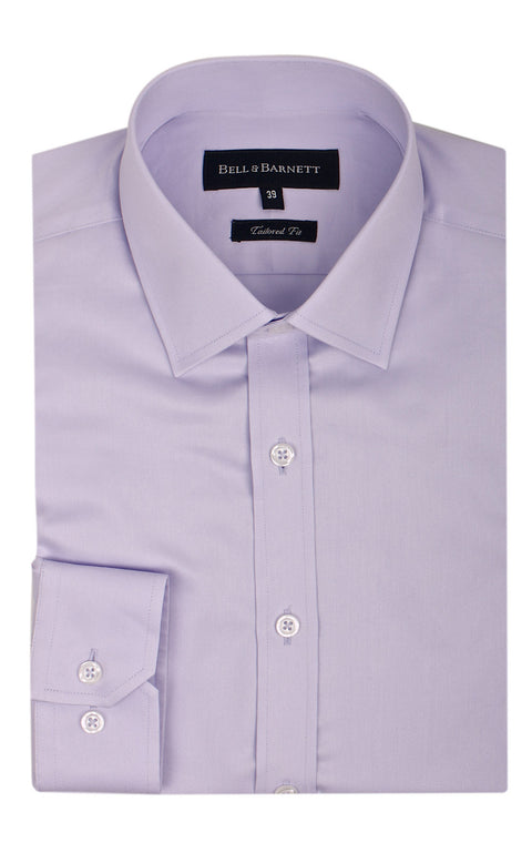 Bradley Lilac Slim Fit Men's Business Shirt - front.