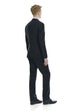 Black suit for men in classic fit - rear.