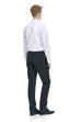 Slim fit men's dress pants in black - rear.