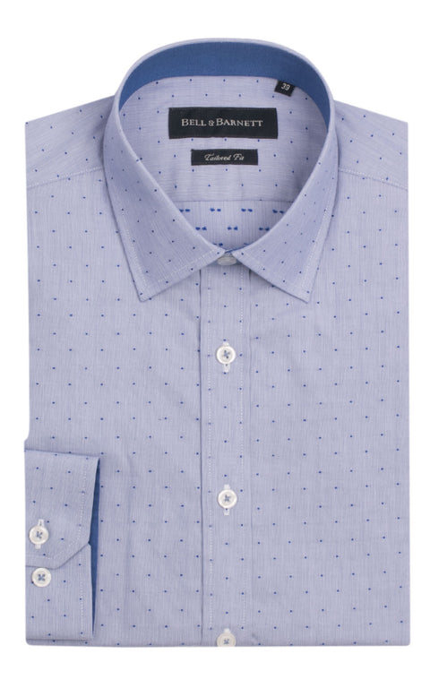 Olver Blue Spot Cotton Shirt