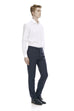 Navy dress pants for men - front.