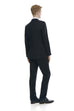 Men's formal black suit - rear.
