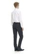 Charcoal slim fit formal trousers - rear.