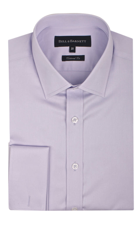 Duke Lilac French Cuff Business Shirt - front.