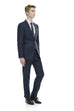 Navy suit for men made from wool - front side.