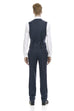 Slim fit men's navy vest - rear.