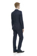 Slim fit suit jacket and trousers - rear.