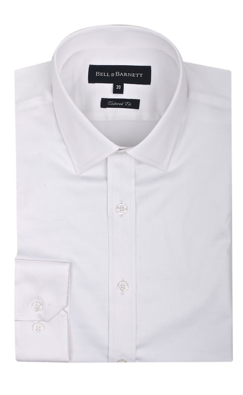 Christian White Slim Fit Wedding Shirt - front.
