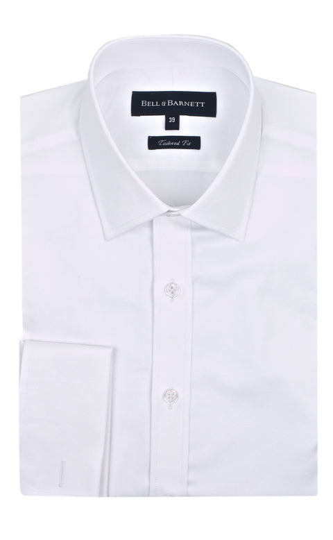 Duke White French Cuff Business Shirt - front.