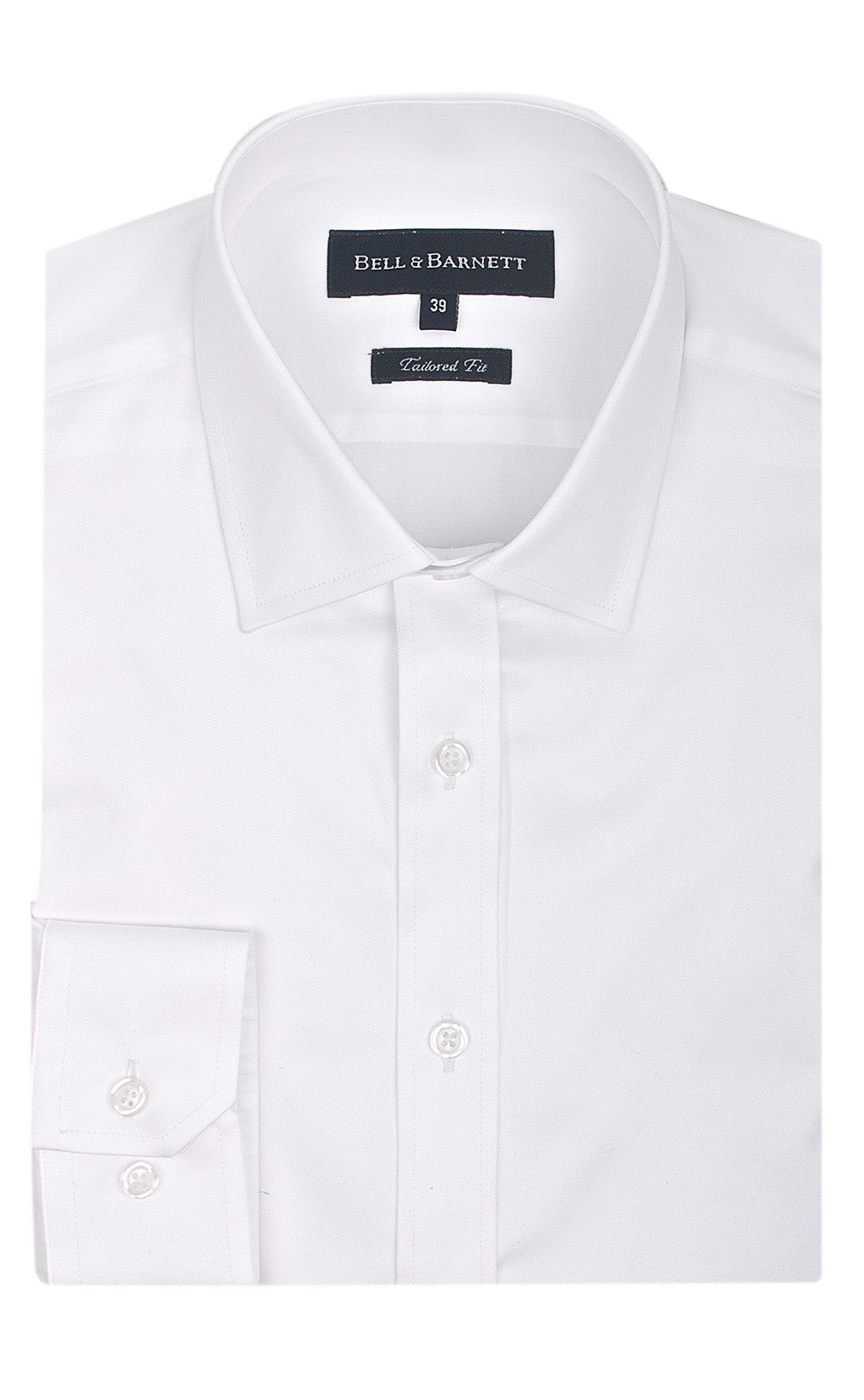 Bradley White Slim Fit Business Shirt - front.