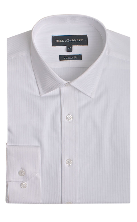 Corwin White Business Shirt - front.