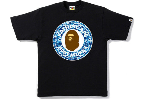 Bape 1st Blue Camo Busy Works Tee