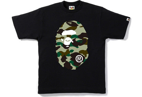 Bape 1st Camo Big Ape Head Black Tee