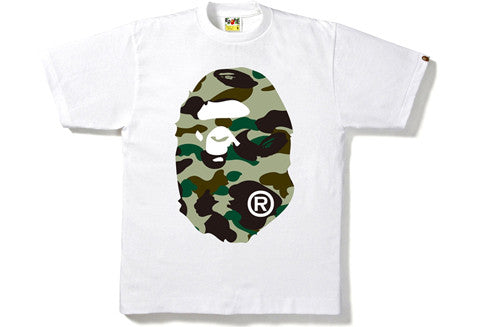 Bape 1st Camo Big Ape Head White Tee