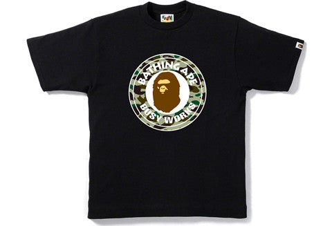 Bape 1st Green Camo Busy Works Tee