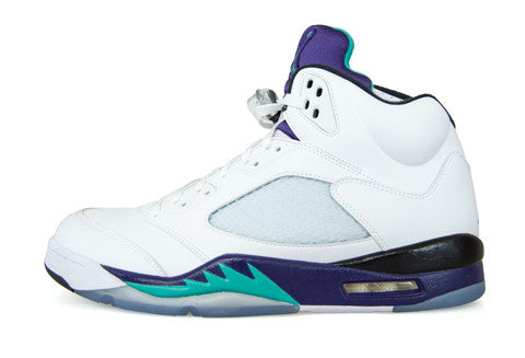 Air Jordan 5 White Grape Bin Leather Sample