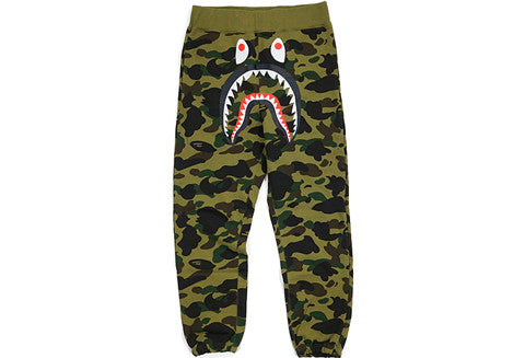 Bape Green Camo Shark Sweatpants