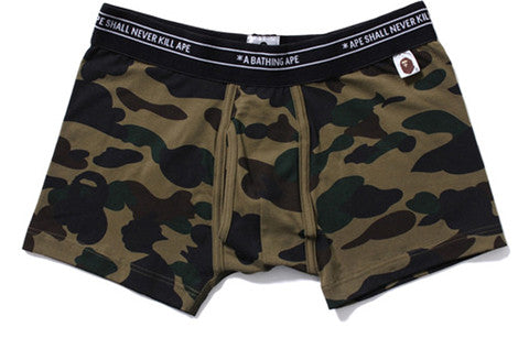 Bape 1st Green Camo Boxer Short Briefs