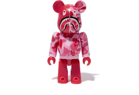 Bape x Medicom Red Camo Shark Bearbrick