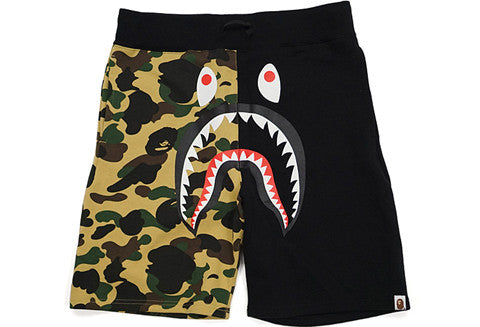 Bape Black Half Tan Camo Shark Shorts