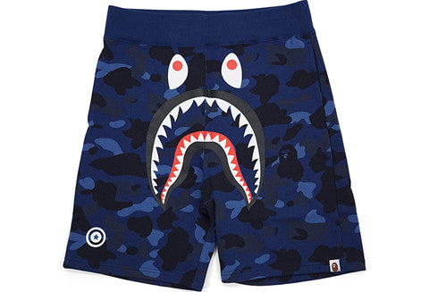 Bape Blue Camo Shark Sweatshorts