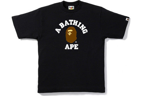 Bape College Black Tee