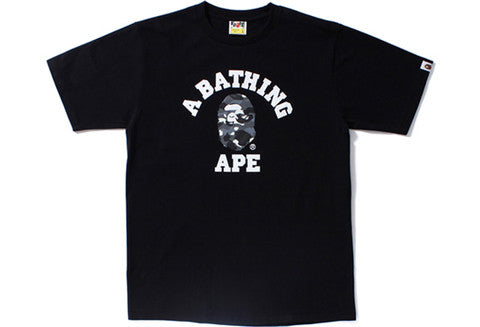 Bape College City Camo Black Tee