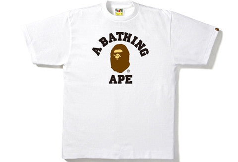 Bape College White Tee