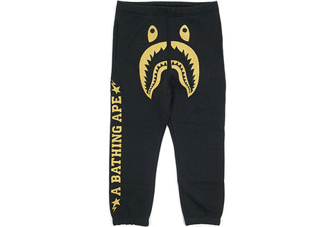 Bape X DSM Black Gold Shark Sweatpants