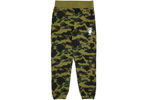 Bape Green Camo NYC Sweatpants