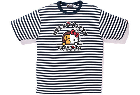 Bape X Hello Kitty Striped Tee