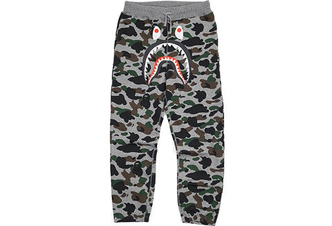 Bape Heather Camo Shark Sweatpants