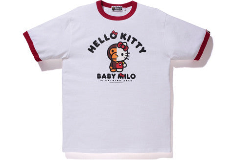 Bape X Hello Kitty Red Collar Tee