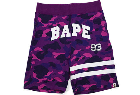 Bape Purple Camo 93 Border Sweatshorts