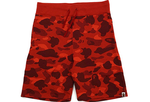 Bape Red Camo Sweatshorts