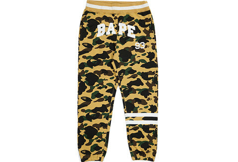 Bape Yellow Camo 93 Border Sweatpants
