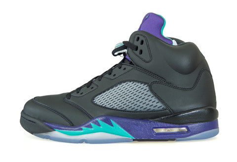 Air Jordan 5 Black Grape Bin Leather Sample