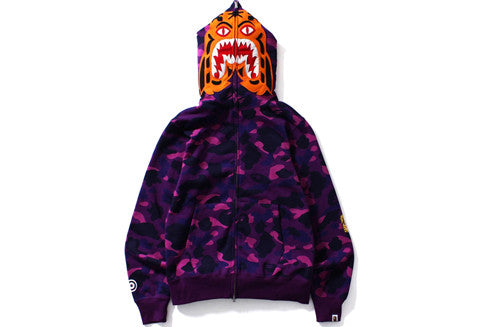 Bape Purple Camo Tiger Full Zip Hoodie