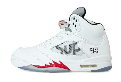 Air Jordan 5 x Supreme White
