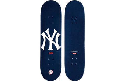 Supreme New York Yankees Navy Skate Deck