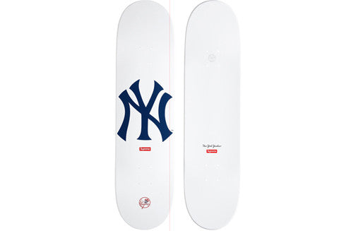 Supreme New York Yankees White Skate Deck